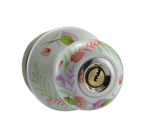 Ceramic lock the door when indoor European ball lock hold hand lock copper core  S-015R