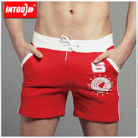 INTOUCH Men's Fashion Sport Shorts Summer Cotton Shorts New Leisure Straight Jeans Free Shipping 5 Colors 3 Sizes