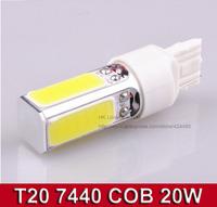 2PCS High Power 20W W21W T20 7440 Super Bright Led Automotive Light Car COB Led Parking Head Reverse Bulb Lamp DC12V Xenon White