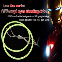 120mm Hot Iron Men Series COB Angel Eye Light LED Chip Car Light 100% Waterproof LED Car Headlight Light Free Shipping