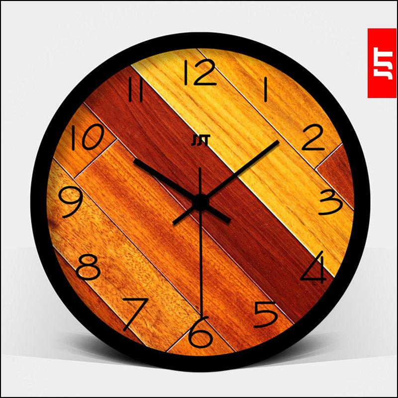 Long wall hangings of modern creative living room wall clock quartz watches personality tuba mute electronic wall charts(China (Mainland))