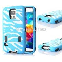 1pcs/lot fashion New Arrive 3 in 1 cute zebra High Impact Case For Samsung Galaxy S5 i9600