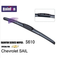 Soft Natural Rubber Car Boneless windshield wiper blades special for Chevrolet Sail, 2 PCS in one box