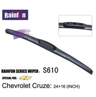 Soft Natural Rubber Car Boneless windshield wiper blades special for Chevrolet Cruze, 2 PCS in one box