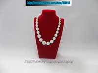 Wholesale 2 pieces/lot Jewelry Display Stand Red Velvet Necklace Pendant  Portrait  Mannequin Forms Holder Rack Shelf