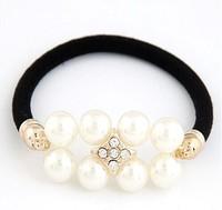 Han edition fashionable oL sweet pearl elastic hair accessories#11010371