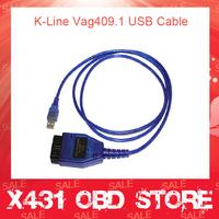Best Price OBD Vag409.1 USB KKL 409 Interface KKL vag com 409 Support K-lines Vagcom 409.1 OBD2 USB Diagnostic Scanner