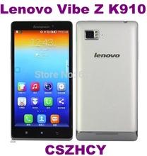 5pcs/lot Original Lenovo VIBE Z K910 Unlocked Dual Sim 16GB Rom Quad Core 5.5 IPS 3050mAh Cell phone Free shinpping(China (Mainland))