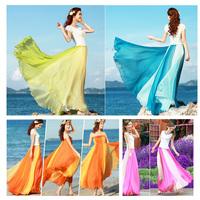 New 2014 Maxi Skirt Fashion Chiffon Midi Summer Long Skirt Female Saia Longa Skirts Womens Tops For Women Saias Femininas