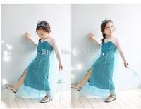 Brand 2014 new Hot Girl Frozen Dress Elsa & Anna Summer Dress Kid Princess Dresses Children Clothing Kids Wear Drop Shipping