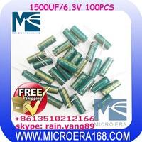100pcs/lot high quality motherboard capacitance 1500UF/6.3V