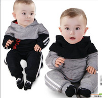 Free shipping 5sets/lot  fashion cotton boys clothing suit brand long sleeve hoody+pants 2pcs baby children tracksuit in stock