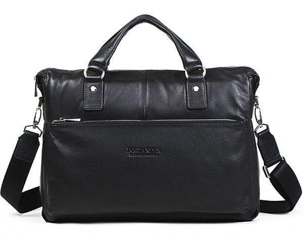 "BOSTANTEN 2014 Men's Casual Genuine Leather Real Cowhide BAG Shoulder Purse Briefcase Messenger Laptop Tote Handbag 14"" 15""(China (Mainland))"