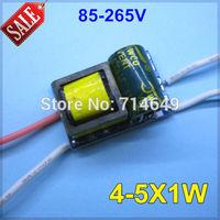 50pcs/lot, 4-5X1W led driver, 85-265V voltage input power led driver for E27 E14 GU10 B22 led lamp inside 4W 5W buld lamp driver