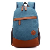 2014 New Men And Women's Unisex 4 Colors Casual Canvas Backpacks School Backpacks 991-3 , Free Shipping