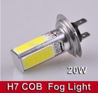 2pcs/lot New COB LED Car Front Fog Lights H7 20W High Power LED  Light Lamp