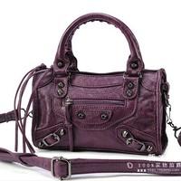 New arrival mini bags mini 2014 Small motorcycle bag tassel one shoulder cross-body women's handbag