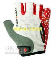 castelli Bicycle/motorcycle glove,Men's Cycling free running gloves,white/black/red bike fingerless half finger sport gloves