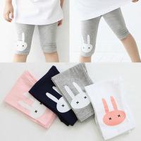 Size100~140 Summer children fifth pants girls leggings princess pants child trousers hbdxbk cartoon rabbit shorts