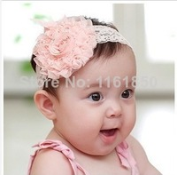 Free Shipping! 10pcs 3 color 2014 New Fashion Flower Hair Band Toddler Headband Lovely Princess Hairband