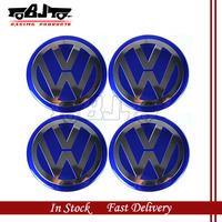 BJ-SCS-VW02 4pcs 55mm New Arrival Wheel Center Sticker Aluminum VW Badge