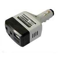 2Pcs  New 12V 5W Car Charging Travel Power Converter Inverter DC To AC US Plug Adapter  Free Shipping