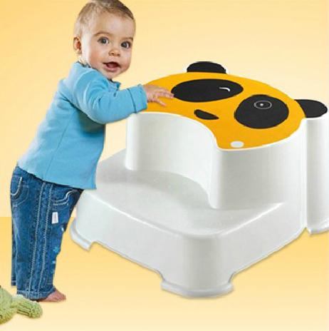 babyhood child bath tub side panda step stool for toddler toilet training kids seat in plastic. Black Bedroom Furniture Sets. Home Design Ideas