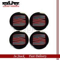 BJ-SCS-SEAT High Quality Wheel Center Sticker 55mm 4pcs Aluminum SEAT Badge