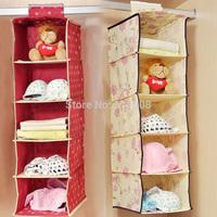 Hanging Wardrobe Storage holders Bag Clothing Shoes Shelves Closet Organizer collapsible home storage #AF0068