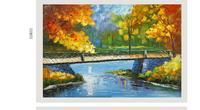 Home Decor Modern Wall Art Landscape Oil Painting Leonid Afremov Fall in Autumn Unframed Oil Painting