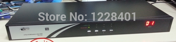 KVM switch, USB+PS/2 COMBO KVM switch,USB video sharing,DVR compatibility1pieces/lot 4ports(China (Mainland))