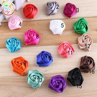(100 pieces/lot) 1.4'' ribbon rosette flowers,kids hair accessories,baby headbands prop (16colors)