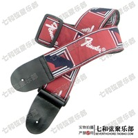 Free shipping red ground and white words embroidery electric guitar, electric bass, Guitar Strap, Guitar Suspender