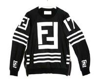 FAKE FF Hoodies channel Sweatshirt Sweat homme femme LAGERFELD Hockey Sweater side zipper Sweater Top Pullover for Women/men