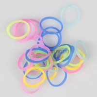 Glow in dark loom bands refid + 24 S-clip ) ,factory pricell noctilucence light Rubber band for DIY Bracelets (300pcs ban