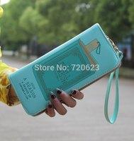 Colleague Print Clutch Checkbook Money Clip Coin Bag Women Purse Handbag Wallet