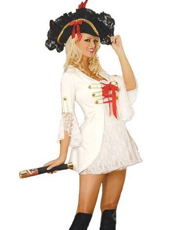 5F9563 Cheap European Pirate Halloween Costume White European Pirate Halloween Costume Free shipping(China (Mainland))