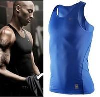 Pro Men's Basketball Sports Training Fitness Stretch sleeveless leotard foot-sleeved vest