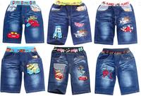 summer Dusty Plane & Spiderman Spiderman boys jeans short cotton kids clothing more design childrens short babys cartoon style