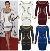 2014 New Fashion Women Summer Casual Dresses Canvas Sheath Full O-Neck Print Women Dresses Size S-XXL