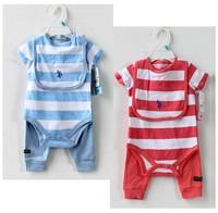 2014 New Spring American Original Single Baby Clothing Set Cotton Underwear Three-piece Children Summer Sets