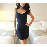 New Top Fasion O-neck Chiffon Regular None Print Sleeveless Brief A-line Natural 2014 Fashion Shipping Women's Summer Dress 1455