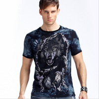 High Quality Men's T-Shirts Brand Designer Fashion 3D Noctilucence Short Sleeves T Shirts Male Summer Tops Tees Free Shipping