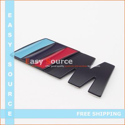 car styling MATT BLACK STYLE M EMBLEM/BADGE for ALL BMW SPORT M3 M5 -3M STICKER METAL MADE sticker(China (Mainland))