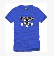 New Lovers thrasher five-pointed star skateboard swag HARAJUKU hiphop t-shirt Men o-neck short-sleeve T-shirt 100% Cotton