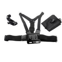 Chest Harness + Head Strap Mount + Accessories Parts Bag for GoPro Hero HD 2 3 3+