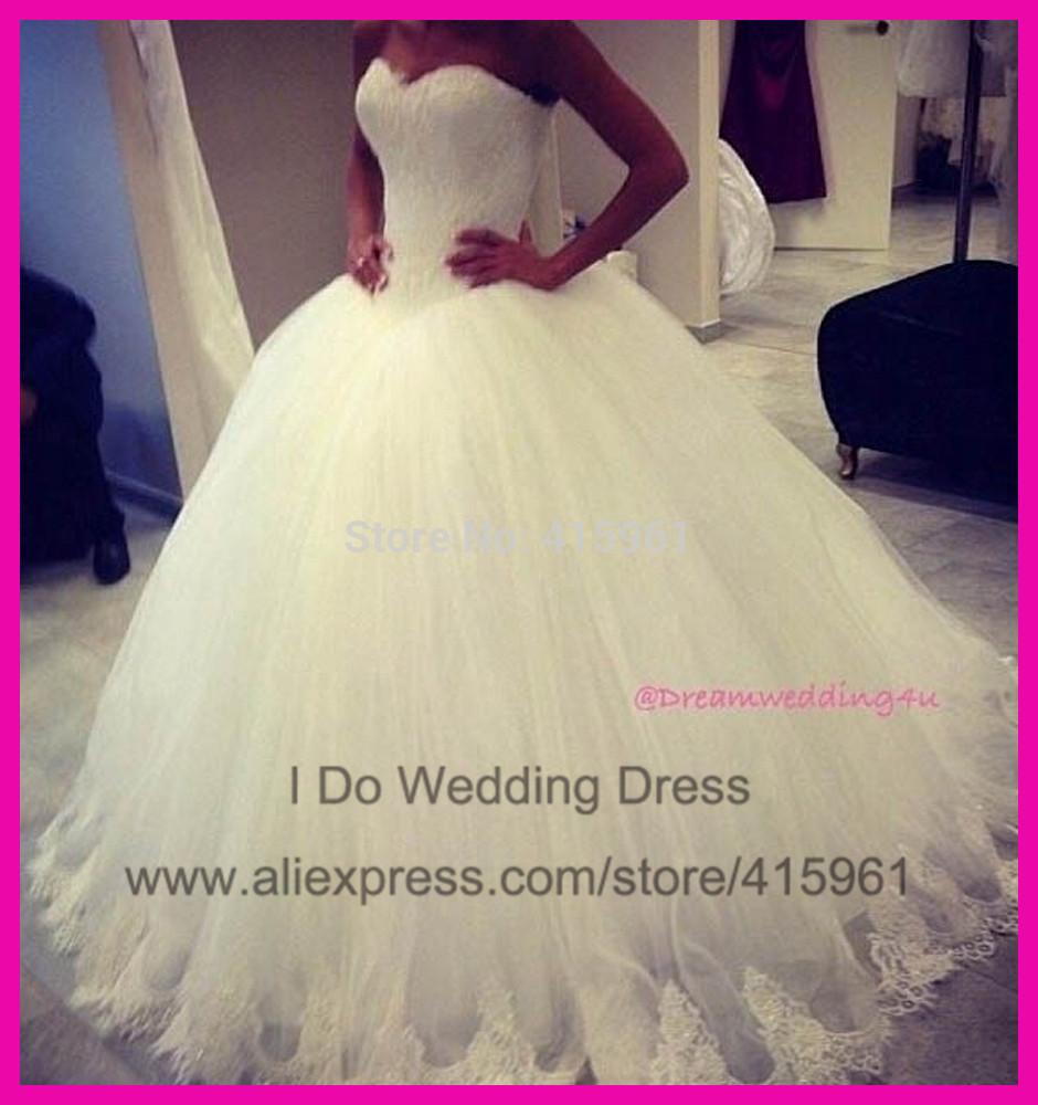 custom made élégant 2014 longueur au sol tulle de mariée robe de bal robes de mariée taille plus w2863