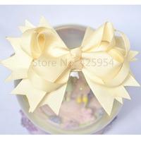Ribbon Bow Flower Elastic Headband Baby Girl Hair band  Girls Headwear Children Hair Accessories Hair Bows 12 pcs/lot