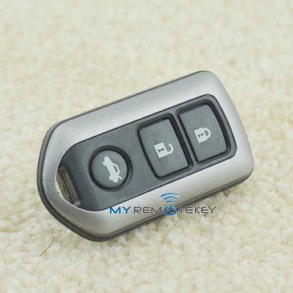 Nice quality Remote Fob case 3button smart key Prado key blank remote control for Toyota car key remote(China (Mainland))