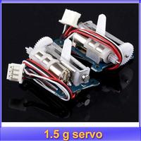free shipping 2pcs/lot 1.5 g 1.5g servo micro digital servo loading two linear servo Goteck Swept the world